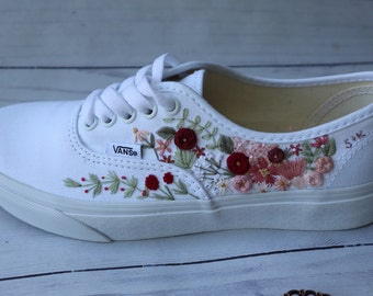 Embroidered vans   Etsy