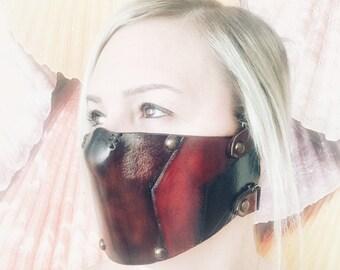 d646b52c Custom Leather Mask ( Mortal Kombat Erron Black Mask), Leather Biker Mask