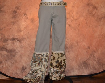 Hand Painted Cargo Pants Size 14 OOAK