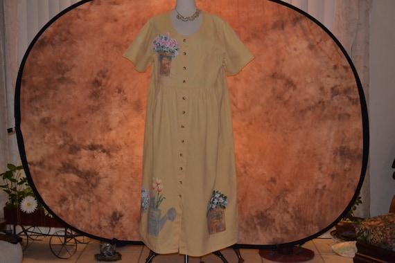 Plus Size Buttery Yellow Denim Dress Womens Hand P