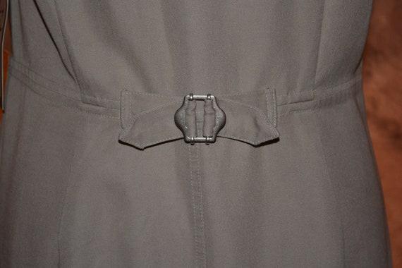 Vintage Women's Pinafore Dress Khaki High Grade T… - image 5