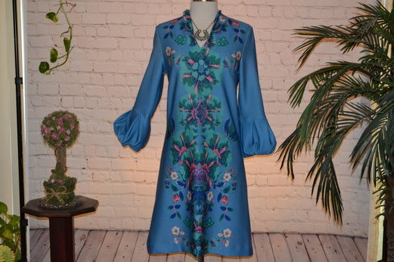 New York & Company Vintage 70 - 80s Dress Groovy … - image 1