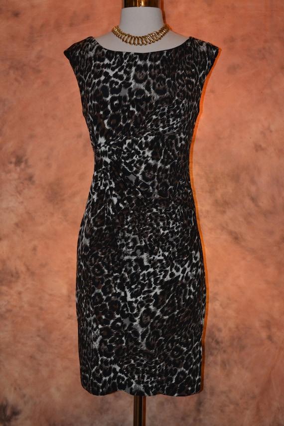 New Vintage Bodycon Coral Dress Women/'s Peach Bandage Cocktail Party Club Dress Ruch Waist Unique Neckline New Old Stock Muxxn Pencil Skirt