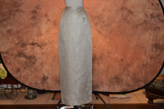 Victor Costa Brocade Skirt Vintage Full Length For
