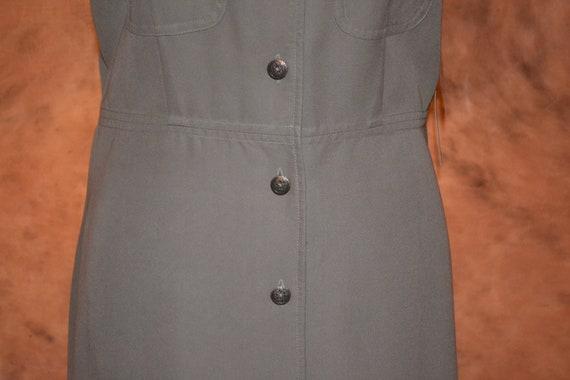 Vintage Women's Pinafore Dress Khaki High Grade T… - image 4