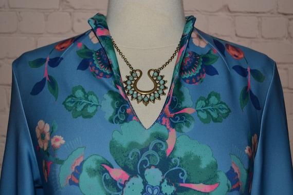 New York & Company Vintage 70 - 80s Dress Groovy … - image 7