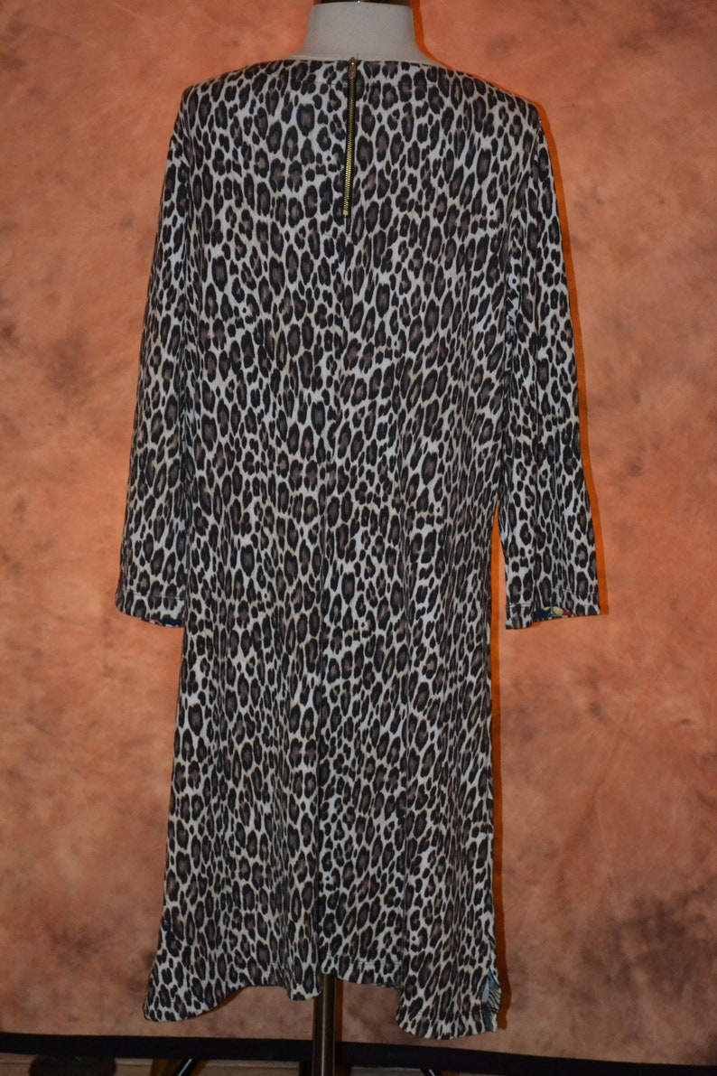 Tommy Bahama XL Women/'s Leopard Print Dress Fine Quality Gorgeous Pattern Heavy Winter Dress Plus Size