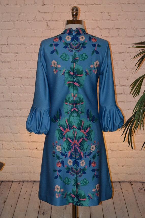 New York & Company Vintage 70 - 80s Dress Groovy … - image 9
