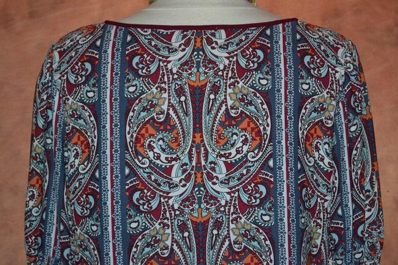 Gypsy Dress Women/'s Vintage Hippie Dress Bell Sleeves Swing Skirt Boho 60s Style