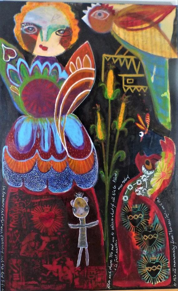 retro maíz Paquete de tela 2 x 50 x 140 canvas flor