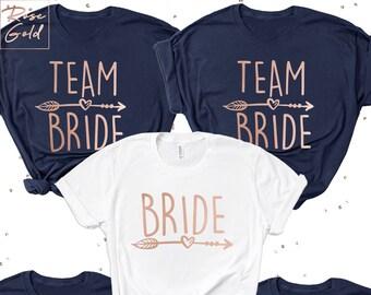 908593fd Team Bride Shirts, Bride shirt, Bride Squad T-shirts, Heart Arrow, Bachelorette  T-shirts, Bachelorette Party Shirts, Bridal Party T-shirts