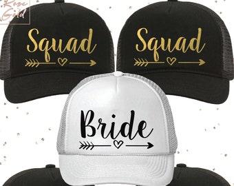 715372be Bachelorette Party Hats, Bride Squad Caps, Bride Squad Hats , Bachelorette Trucker  Hats, Bridal Party Caps, Bride Hat, Bridal Party Hats