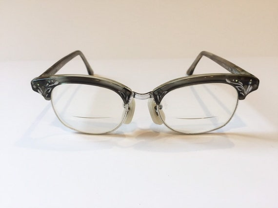 Women/'s YELLOW Pearl Eye Glasses Retro Vintage Embellished with Pearls