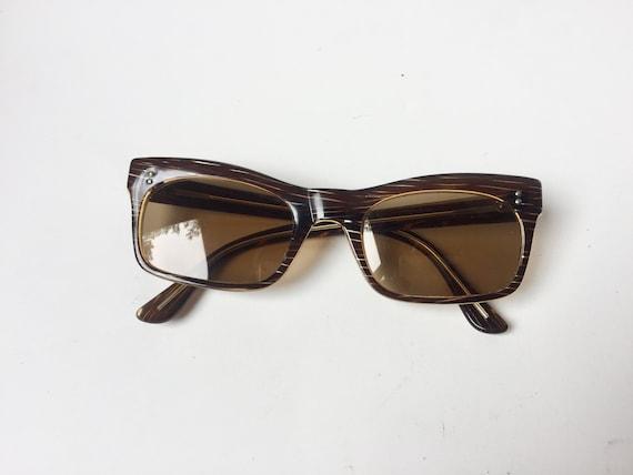 Vintage 60s Sunglasses | 60's Square Sunglasses |… - image 1