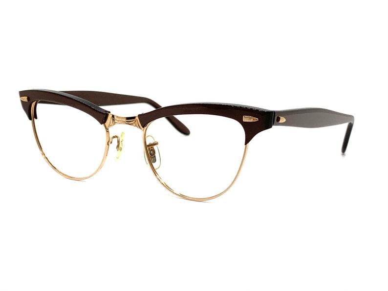 New Old Stock American Optical Eyeglasses Brown Horn Rim Glasses Frames Retro Eyeglasses Unused 60s Mink Show Time Eyeglass Frames