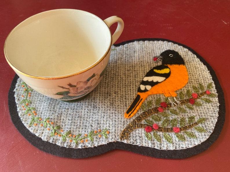 BALTIMORE ORIOLE mug rug kit