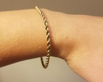 cae4fc0152c7 Vintage Tiffany and Co 14k gold rope bracelet