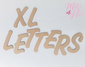 MDF Wooden Letters Large Letters Laser Cut MDF 3MM 12cm 15cm 20cm 25cm Wood Letters Cashew Font DIY Letters Blank letters Craft