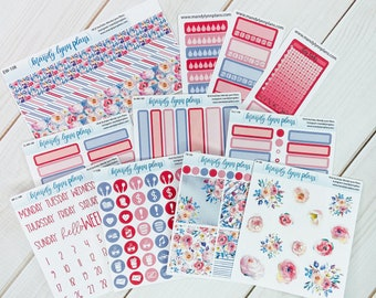 Colored Scripts Clipart Deco Labels    Removable Matte Stickers    101 Violet Blooms Add-Ons    Washi Trackers Icons Full Boxes