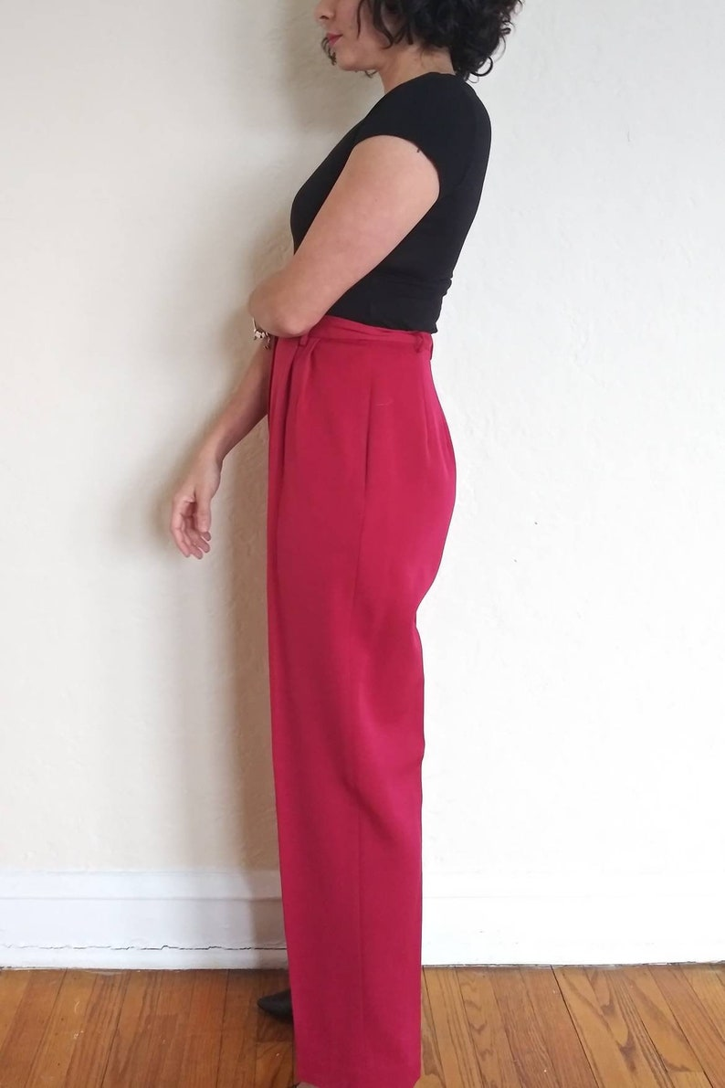 1980/'s Lands End Vintage red trousers