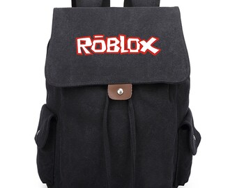 c43e35362c Roblox Inspired Vintage Canvas Backpack Students School Bag Mens Laptop  Drawstring Bag Matching Book Bag Womens Backpack