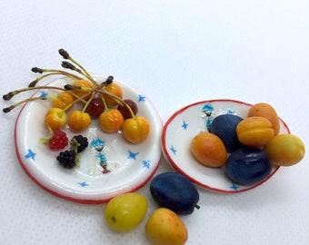 Blueberries.Miniature 112 and 16 for dolls Handmade. Currants Mix berries doll house Blackberries Raspberries