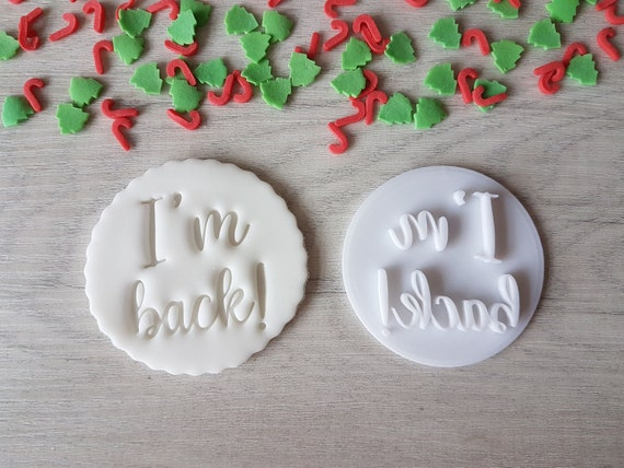 I'm Back Embosser Stamp  Elf Christmas Cookies Soap