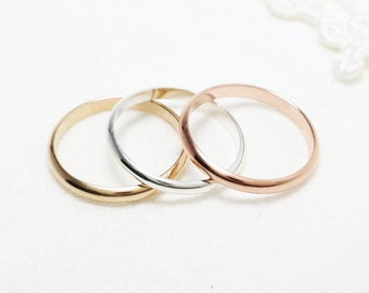 e7688c3056 Thin Gold Ring, Silver Ring, 2.5mm, Thumbs Rings For Women, Dainty Wedding  Band, 14K Rose Gold Filled Promise Engagement Ring For Girlfriend