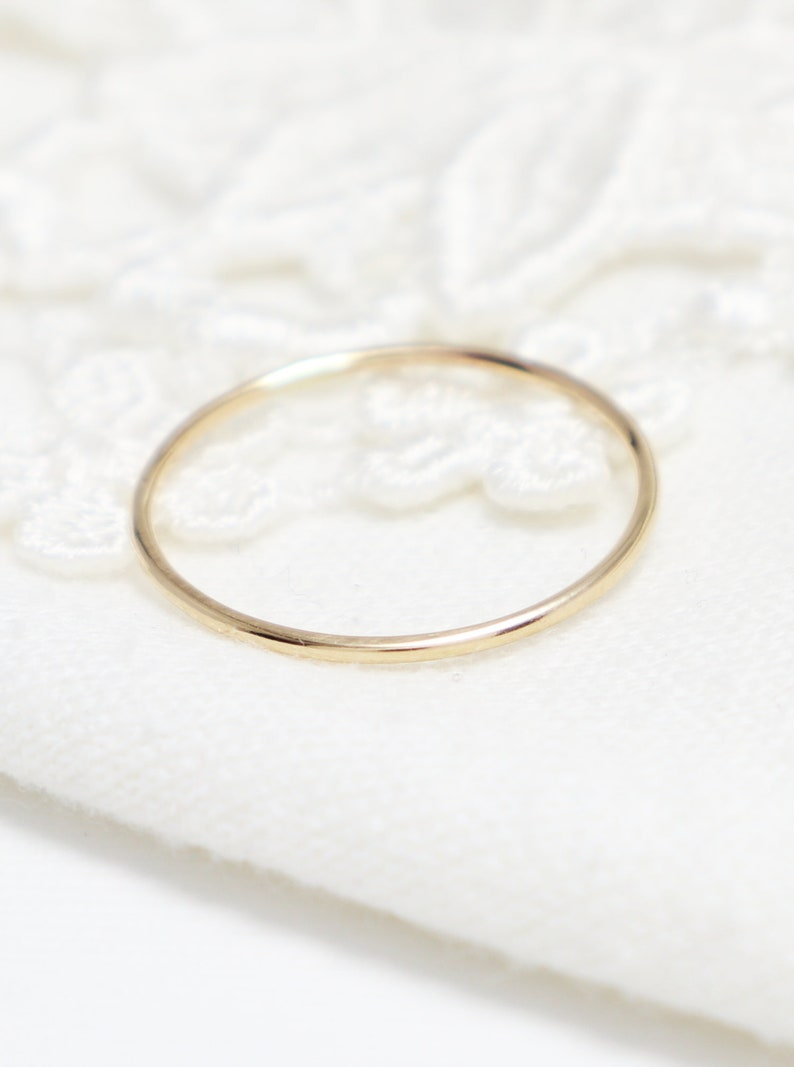 09fd23ed60bd1 Super Thin Gold Ring, Gold Rings For Women, Thumb Ring, 14K Gold Filled,  Simple Ring, Stacking Ring, Delicate Ring, Skinny Midi Knuckle Ring
