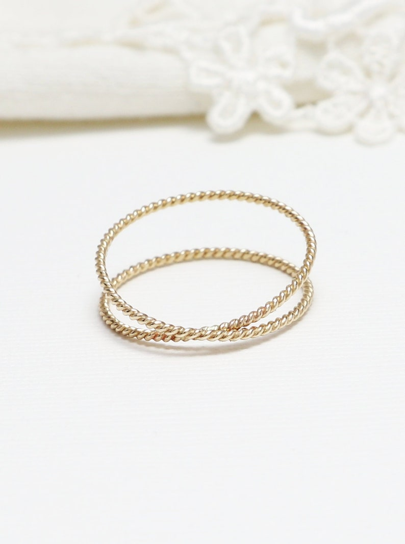 4a2a1b6efbad Super Thin Gold Twist X Ring Criss Cross Ring Promise Rings