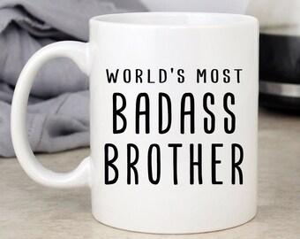 Badbass Brother Mug Gift For Funny Birthday Ideas Gag