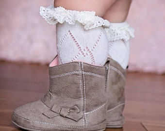 c03dda6d46c Lace Boot Socks for Baby Girls and Women Mommy and Me Lace Socks Knee Socks  Baby Girl Gift Idea Socks for Girls and Women