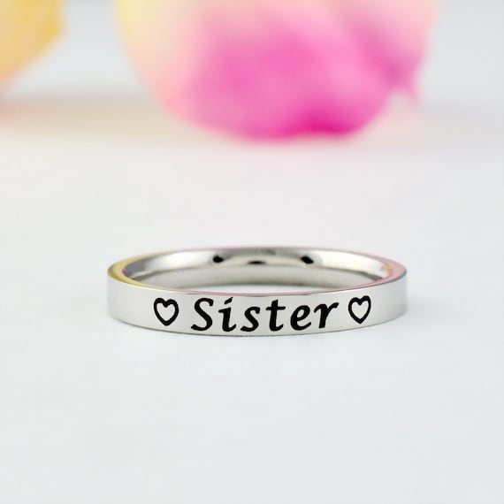 Dainty Stainless Steel Stacking Band Ring Best Friends Sisters Lovers Gift For Her Luke Combs Lyrics Beautiful Crazy