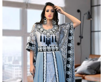 1f07fa609e Arabic Muslim White and Gray Color Caftan