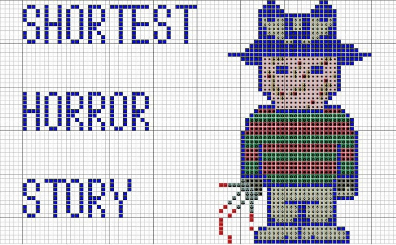 Cross Stitch Pattern Digital Format #189 Blood Pattern Horror story Monday Cross Stitch Pattern Gothic cross stitch Pattern Xstitch