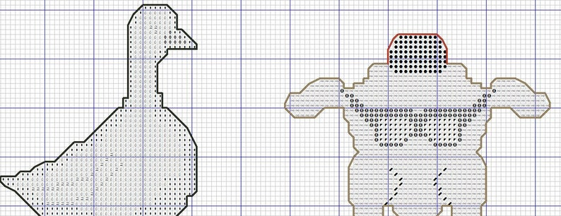 Counted cross stitch pattern Grass Cross-Stitch PDF Instant Download Free shipping