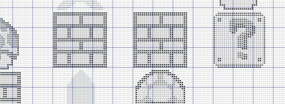 Xstitch Cross Stitch Pattern Creative design Digital Format #185 Mario set game heroes Cross Stitch Pattern Mario Pattern