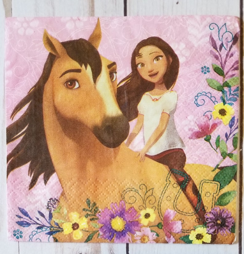 2 Napkins for DecoupageSpirit and Lucky NapkinsHorse NapkinBuckskin Horse NapkinGirl and her Horsenapkin