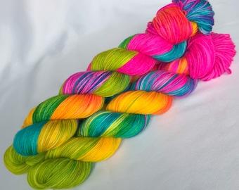 Bona Yarns -  Hand Dyed DK Yarn - 100g 4-ply  - 'Riah' - 75/25% Superwash Merino & Nylon - Multicolor