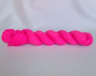 Bona Yarns - 'F*** That's Bright' - hand dyed yarn - DK/Fingering/Sock - Superwash Merino/BFL - neon fuchsia pink