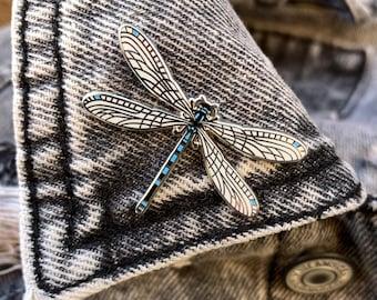 Blue Damselfly Pin