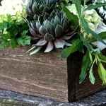 Rustic Wood Box | Rustic Wood Planter Box | Rustic Wedding Centerpiece | Rustic Wedding Decor | Wedding Decor | Rustic Home Decor