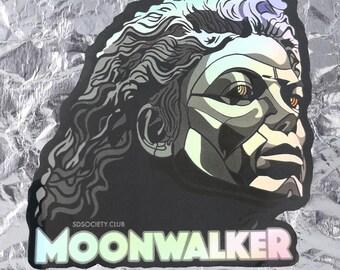 Moonwalker Holographic Robot Sticker -  MJ, Michael Jackson, King of Pop, Moonwalker, 80s, Bumper Sticker, Vintage