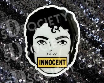 Michael Jackson INNOCENT Sticker -  MJ, Michael Jackson, King of Pop, Moonwalker, 80s, Bumper Sticker, Vintage
