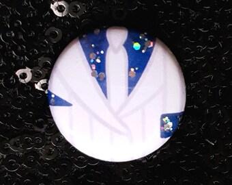 Smooth Criminal BUTTON/BADGE - Michael Jackson, Moonwalker, Jacket, Glitter, Hat Badge, Hat Button, 80s, Vintage, King of Pop