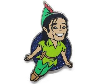 I am Peter Pan  - Hard Enamel Pin, Label pin, Moonwalkers, Moonwalk, Halloween, MJ, King of Pop, Neverland, Cute Pin