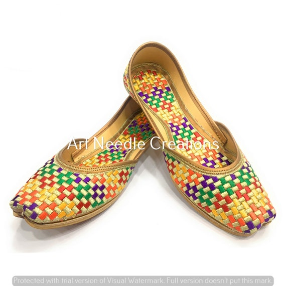 Women/'s Red Color Indian Sandal Handmade Shoe Latest Designs Jutti FREE SHIPPING