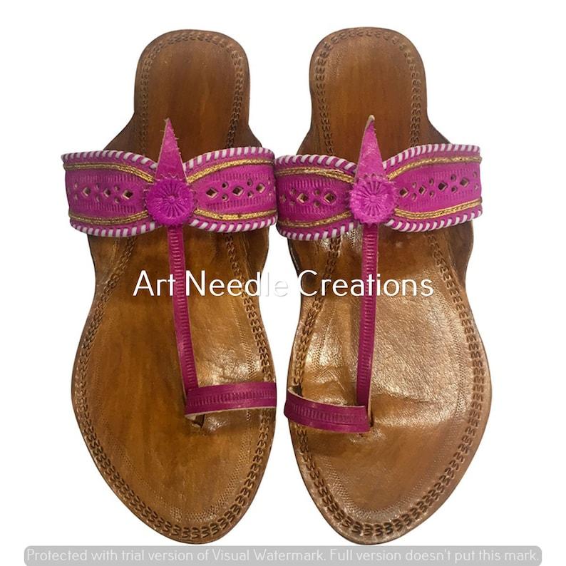 Indian leather chappal ethnic kolhapuri chapal kolhapuri sandal mojari kolhapuri chappal