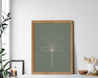 Set of Three Minimalist Plant Print Instant Downloadable File Modern Farmhouse, Simple Wall Decor, Digital PrintPosterPainting
