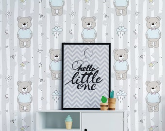 Teddy Bear Wallpaper Etsy